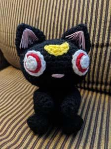 Sailor Moon Luna Crochet Plushie