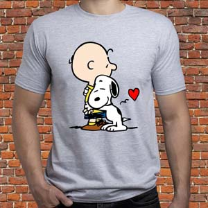 Snoopy & Charlie Hugging Shirt