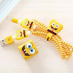 Spongebob Charging Cable And Usb Charger