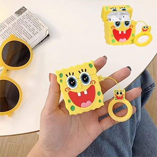 Spongebob Squarepants Airpids Case 3d Airpod Cover Chic Design Shockproof