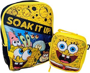 Spongebob Soak It Up Backpack With Insulated Lunch Box