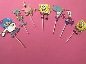 Spongebob And Friends Cupcake Toppers