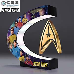 Star Trek Levitating Command Insignia With Light Up Base