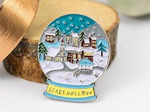 Stars Hollow Snow Globe Enamel Pin