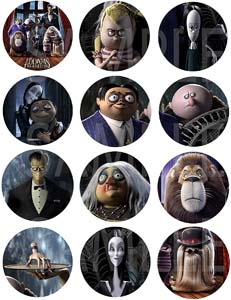 The Addams Family Animated Movie Stickers
