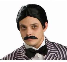 The Addams Family Gomez Wig And Mustache Kit
