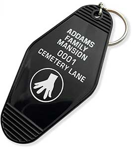 The Addams Family Mansion Keyring