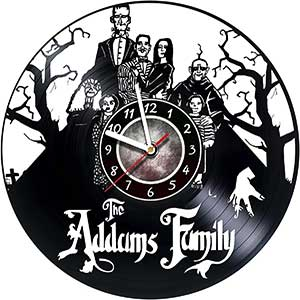 The Addams Family Vinyl Record Clock