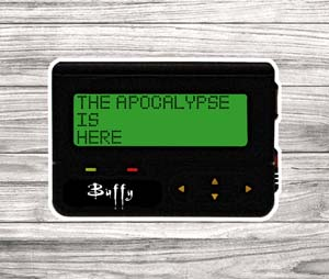 The Apocalypse Is Here Pager Sticker