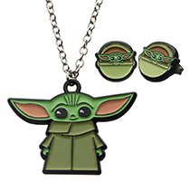 The Mandalorian The Child Necklace And Earrings Set