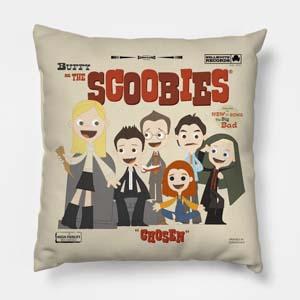 The Scoobies Throw Pillow