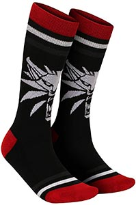 The Witcher 3 White Wolf Crew Socks