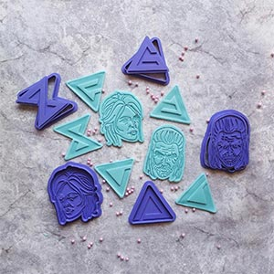 The Witcher Set Of 5 Cookie Cutters