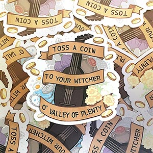 The Witcher Sticker Toss A Coin To Your Witcher