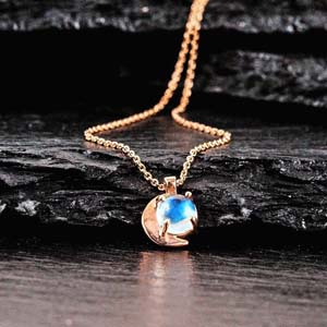 This Beautiful Sailor Moon Cresecent Moonstone Necklace