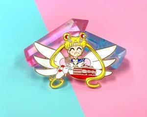 This Sailor Moon Eating Cake Pin