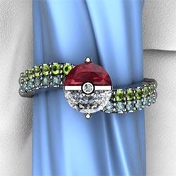 Unique Pokemon Style Engagement Ring