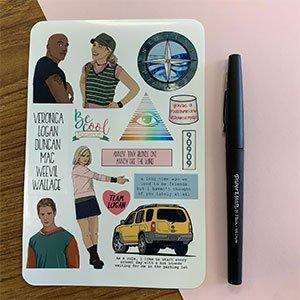 Veronica Mars Sticker Sheet