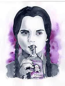 Wednesday Addams Fine Art Print