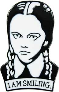 Wednesday Addams I Am Smiling Enamel Pin
