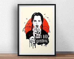 Wednesday Addams I Hate Everything Poster