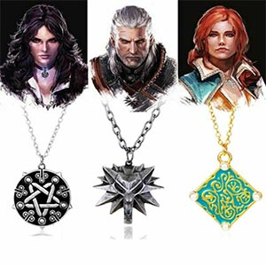 Witcher 3 Geralt Of Rivia, Triss Merigold And Yennefer Of Vengerberg Necklaces