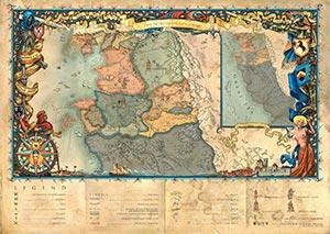 Witcher World Fantasy Map