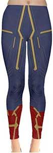 Captain Marvel Style Leggings