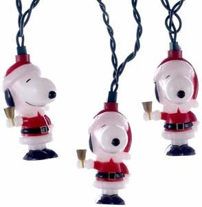 10 Light Santa Suit Snoopy Light Set