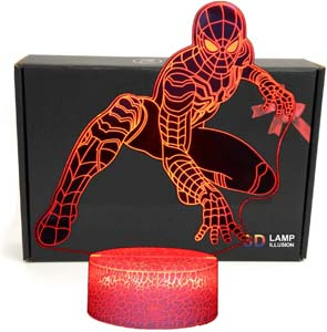3d Illusion Spiderman Bedroom Night Light
