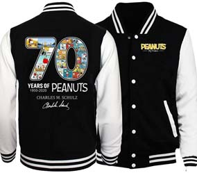 70 Years Of Peanuts Baseball Jacket