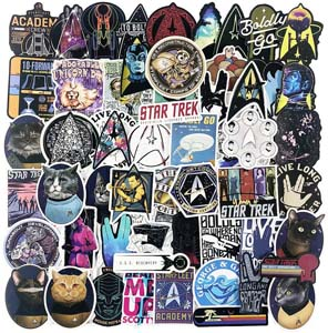 70pc Collection Of Star Trek Stickers