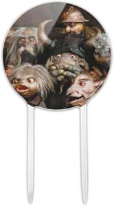 Acrylic Labyrinth Group Of Goblins Shocked Awe Cake Topper