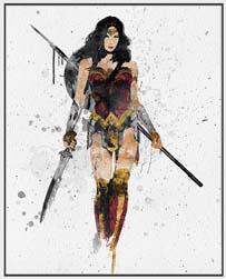 Amazing Watercolor Wonder Woman Poster