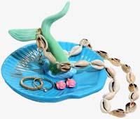 Ariel Mermaid Tail Ceramic Jewelry Tray