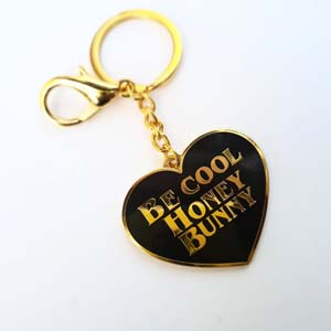 Be Cool Honey Bunny Keychain