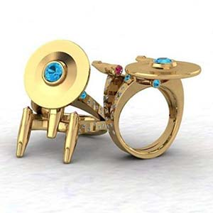 Beautiful Golden Anniversary Boldly Ring For Ladies