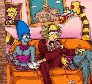 Beetlejuice Simpsons Style Art Print