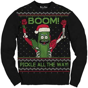 Boom Pickle Rick Ugly Xmas Sweater