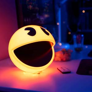 Bright Yellow Pac Man Lamp