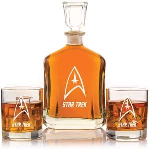 Capital Decanter Set Star Trek Engraved Design