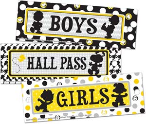 Charlie Brown Theme Paper Hall Passes