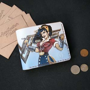 Colorful Dc Wonder Woman Leather Light Colored Wallet