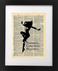 Confident Beautiful Powerful Print Quote