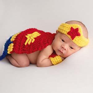 Crochet Wonder Woman Newborn Costume