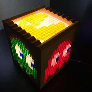 Customizable Pac Man Lego Light