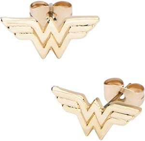 Dc Comics Wonder Woman Gold Plated Stud Earrings