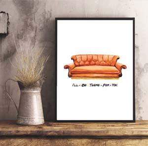 Digital Print Of Friends Couch