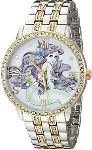 Disney Mermaid Women's Rhinestone Watch