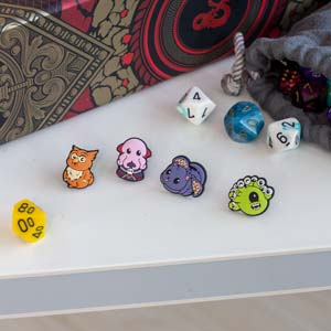 Dungeons And Dragons Mini Pin Set